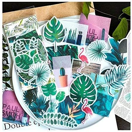 Aolvo Ephemera Pack (60 PCS), Tropical Plants Style Note Stickers Easy Self-adhesive Flowers Roses Garden Wildflowers Butterflies for Scrapbook, Notebook, Journal, Card Making, Letters