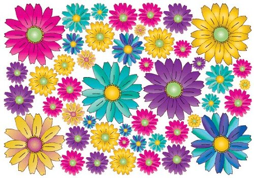 46 Gerbera Daisy Flower Wall Decals Stickers / Flower Wall Decor