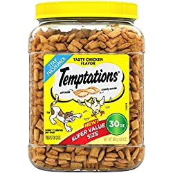 TEMPTATIONS Classic Treats For Cats Tasty Chicken 30 Ounces