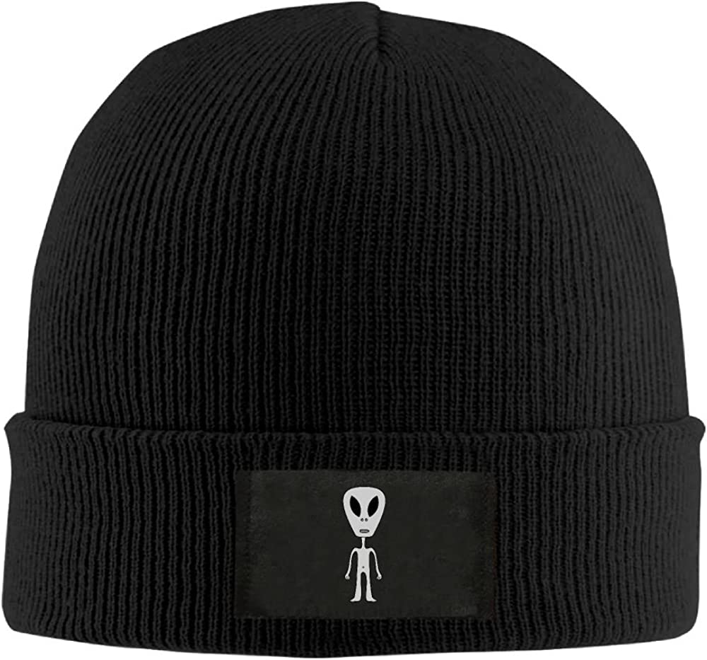 Warm Stretchy Solid Daily Skull Cap Knit Wool Beanie Hat Outdoor Winter NO4LRM Men Women Angry Gre Alien
