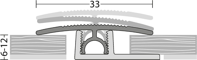 Prinz PROFI-TEC Junior /Übergangsprofil 2.70m Eiche