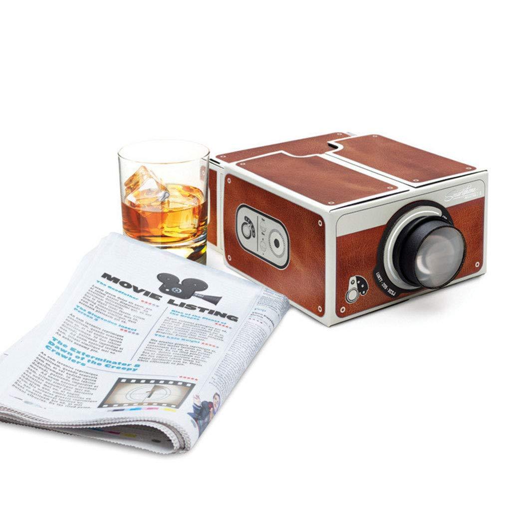 Republe DIY Mini Carton Version 2.0 Smartphone Portable Maison t/él/éphone Portable Projecteur pour cin/éma Maison