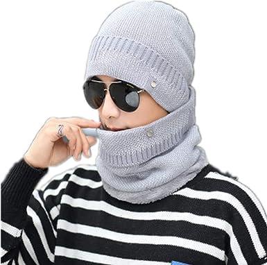 Gorro de invierno para hombre, gorro de algodón frío y cálido para jóvenes, ciclismo al aire libre, gorro de lana de invierno resistente al viento para hombres: Amazon.es: Ropa y accesorios
