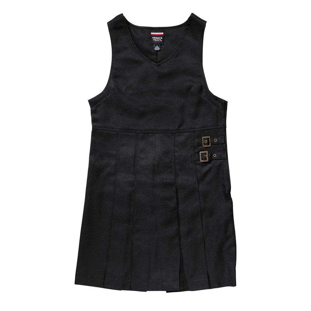 French Toast girlsSY9075Double Buckle Jumper Short-Sleeve School Uniform Dress