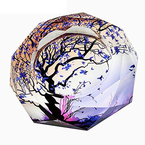 OSONA 高級 葉巻 灰皿 おしゃれ ガラス 卓上灰皿 アッシュトレイ 大容量 25cm B01IHHM0ICパープル 25cm