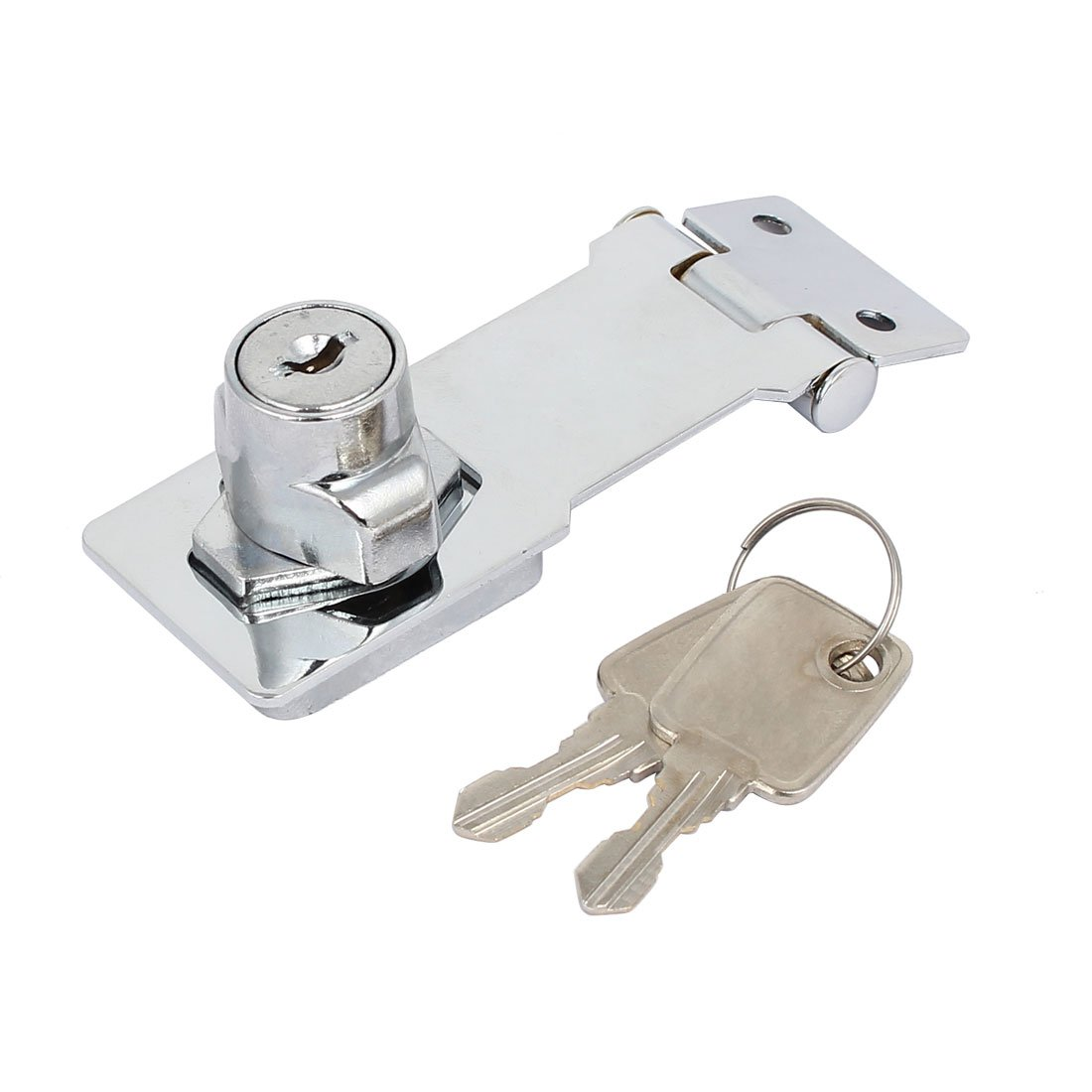 uxcell Cabinet Mailbox 3-inch Long Keyed Entry Safety Guard Hasp Lock Latch w Screws