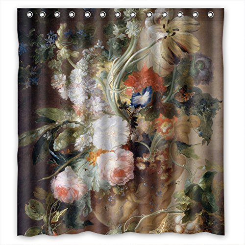 Eyeselect Polyester Famous Classic Art Painting Flowers Blossoms Bathroom Curtains Width X Height / 66 X 72 Inches / W H 168 By 180 Cm Gift Or Decor For Custom - Gifts For Her Woolworths