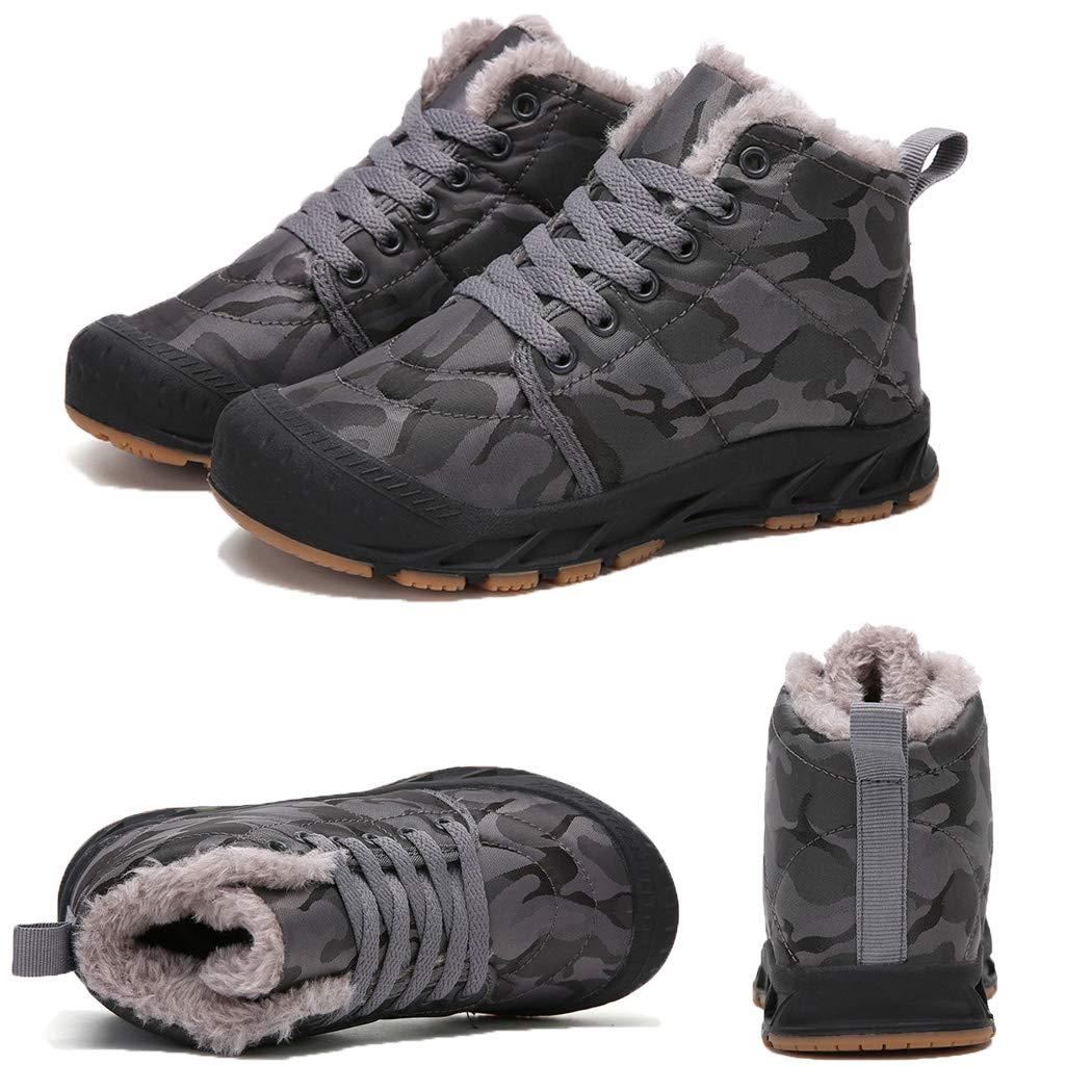 Veluckin Botas de Invierno Ni/ños Camuflaje Botines de Nieve Fur Calentar Botas Botines Antideslizantes