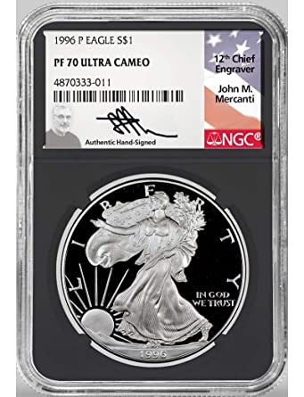 1996-P NGC PF70 Proof American Silver Eagle One Dollar Coin