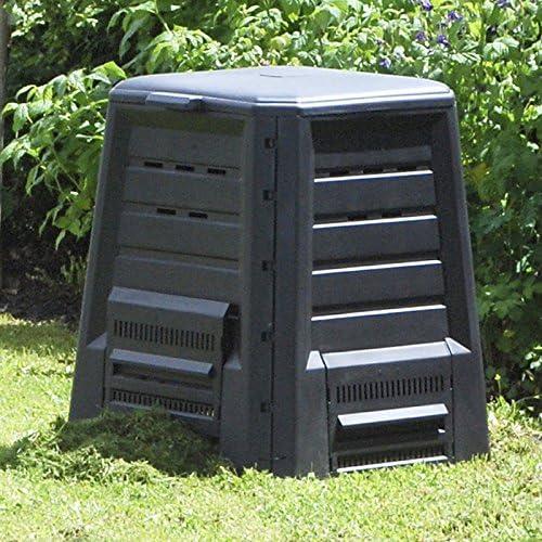 Compostador 340 L Tapa con bisagras, sin suelo 75 x 75 x 87 cm Compost basura Jardín: Amazon.es: Jardín
