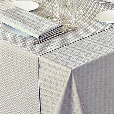 Garnier Thiebaut Tablecloth Pied de Poule Gris Brise Square 69  x 69