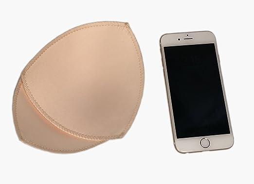 Paquete de 6 pares de almohadillas para sujetador deportivo o Bikini Tops de 5X5 pulgadas (Beige): Amazon.es: Ropa y accesorios