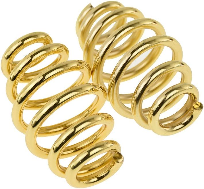 Motorcycle 3 Solo Seat Springs Barrel Coiled Seat Spring for Harley Chopper Bobber Softail Sportster Shiny Golden