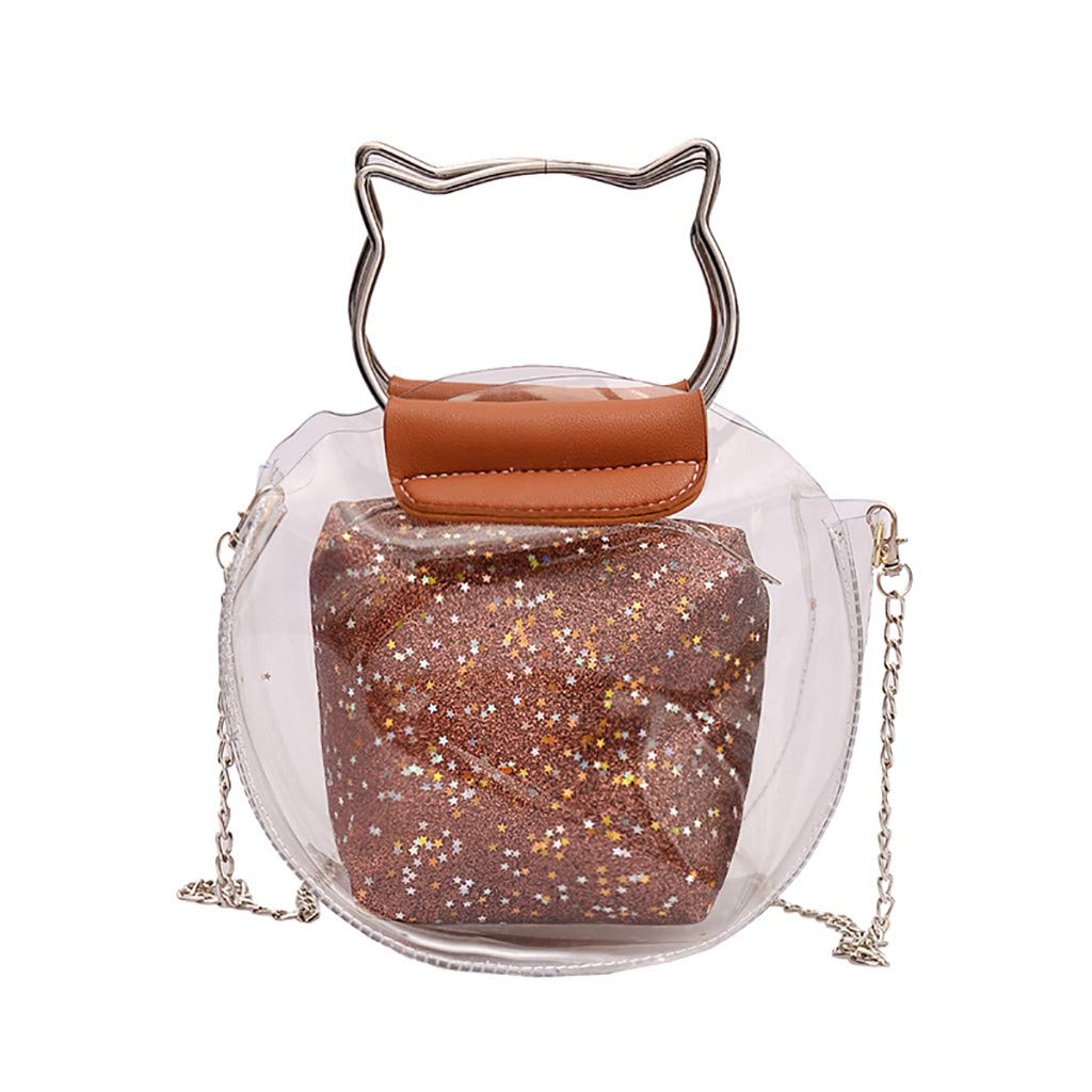 Women Transparent Versatile Messenger Bag Shoulder Fashion Bag