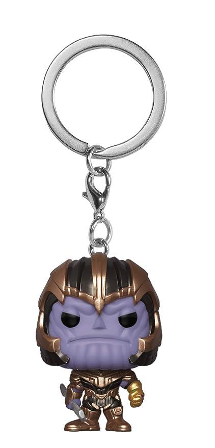 Funko- Pocket Pop Keychain: Avengers Endgame: Thanos Collectible Figure, Multicolor, Estándar (36680)