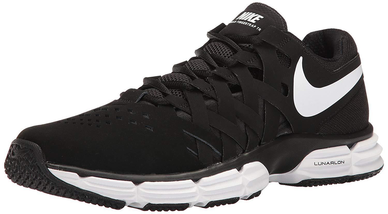 Nike Men's Lunar Fingertrap Trainer Cross White-Black, 10.5 4E US by Nike