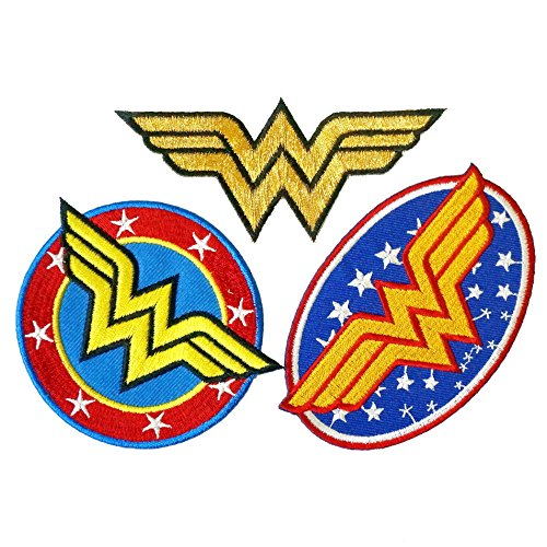 Set of 3 Wonder Woman Embroidered Iron on Patch - Patches Woman Wonder
