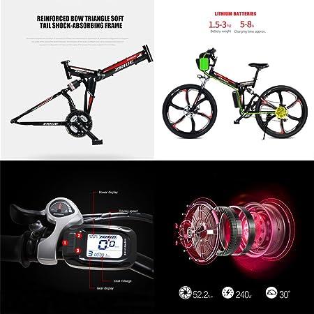 GTYW, Bicicleta Eléctrica, Eléctrica, Bicicleta, Ciudad, Bicicleta Eléctrica, Plegable, Bicicleta, Eléctrica, Montaña, Bicicleta - 24-26 Pulgadas ...