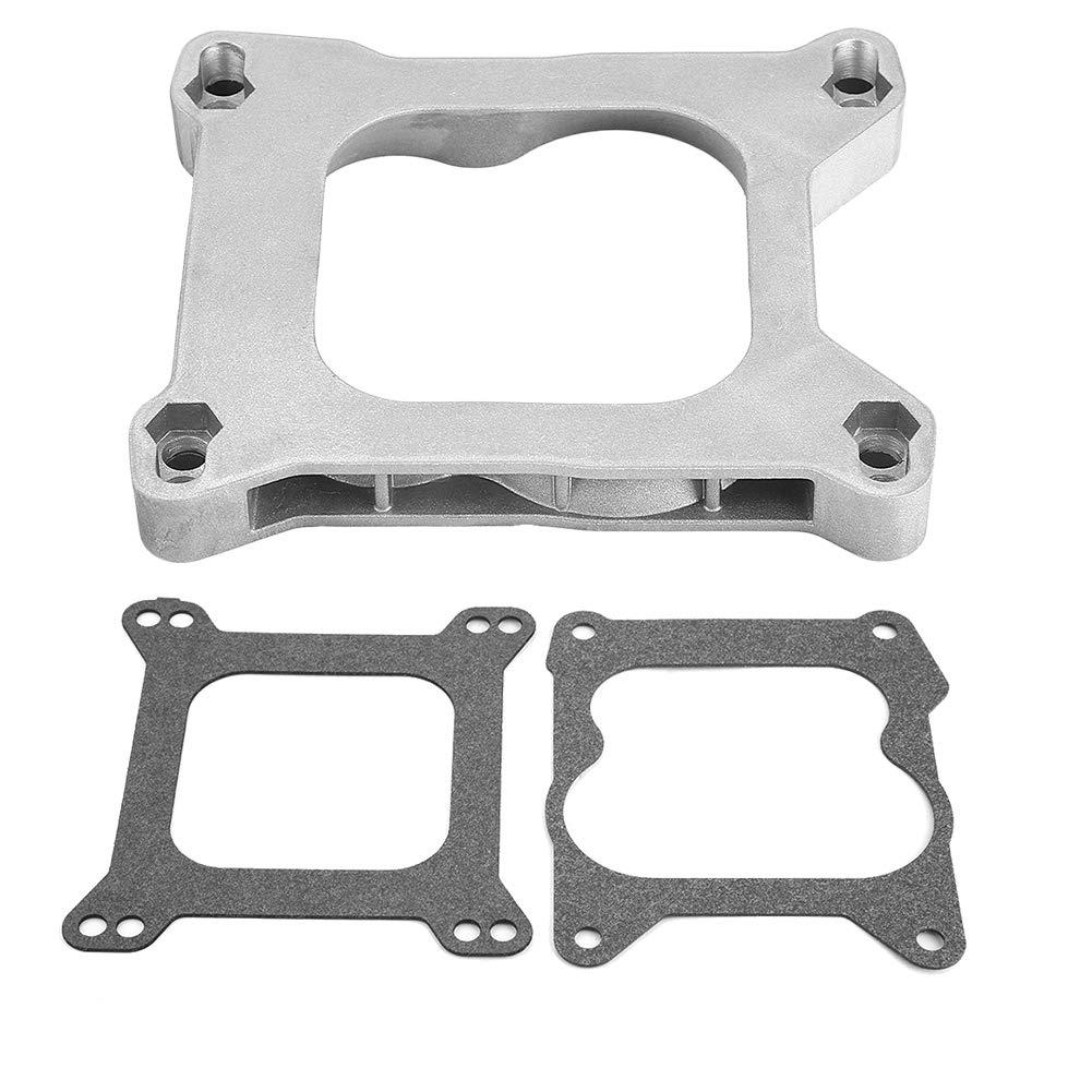 3//4 Open Carb Carburetor Adapter 4bbl Quadrajet Manifold for Holley Edelbrock KIMISS Aluminum Alloy Gasket Adapter