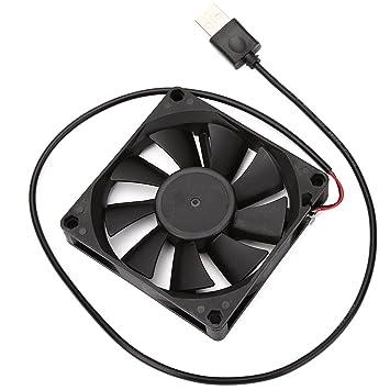 USB de ordenador Cooler ventilador 80 x 80 x 15 mm DV 5 V sin escobillas negro: Amazon.es: Informática