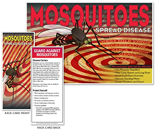 Mosquitoes Spread Disease (Bulls Eye) Rack Card Kit