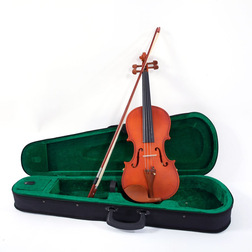 Glarry Full Size 4/4 Matte Violin for Beginners Christmas gift,Carrying Voilin Case,Bow,Shoulder Rests,Four-hole tuner,extra Strings,Rosin