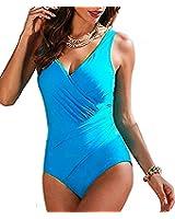 Jusfitsu Verano Traje de Baño Bikini de una Pieza para Mujer-Ropa de Playa ropa de baño Tankini