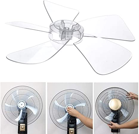 Chictry 4 Leaves Plastic Fan Blade Replacement With Nut Cover For Household Standing Pedestal Fan Table Fanner General Accessories Black One Size Tools Home Improvement Appliances