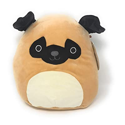 "Squishmallow SQ18-015S, 8"" Pug Toy, Multicolor: Toys & Games"