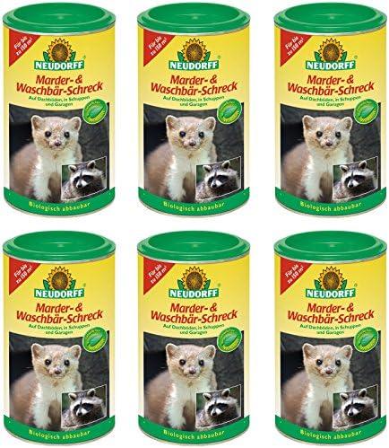 6 x 300 g Neudorff martas de y mapache Ahuyentador de animales salvajes: Amazon.es: Jardín