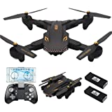 REDPAWZ VISUO XS809S WiFi FPV Drone with 720P Wide-Angle HD Camera Live Video RC Quadcopter Drone for Beginners with Altitude Hold, Gravity Sensor Function, RTF - Two Battery