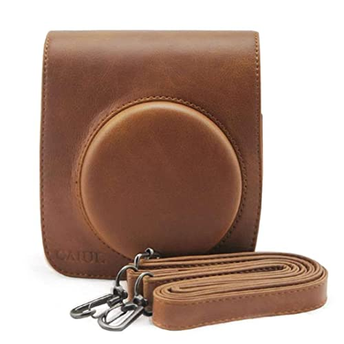 Ouneed Bag Case Pouch For Fuji FUJIFILM Instax Mini 90 PU Leather Camera Case Bag (Brown)