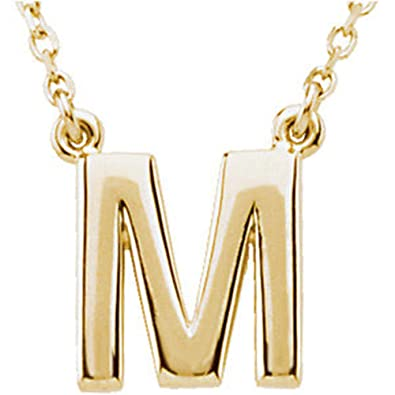 a8e349d18 Image Unavailable. Image not available for. Color: Block Initial Necklace  ...