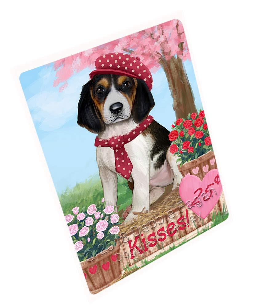 Doggie of the Day Rosie 25 Cent Kisses Treeing Walker Coonhound Dog Blanket BLNKT125679 (50x60 Sherpa)