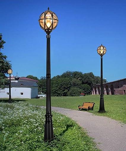 Luz de calle redonda al aire libre Lámpara IP65 resistente ...