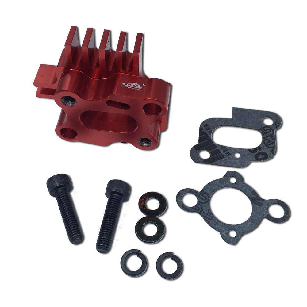 TOP SPEED RC WORLD CNC Alloy Intake Manifold Reddish Orange for 1/5 Rc Hpi RV Km Baja 5B 5T 5SC