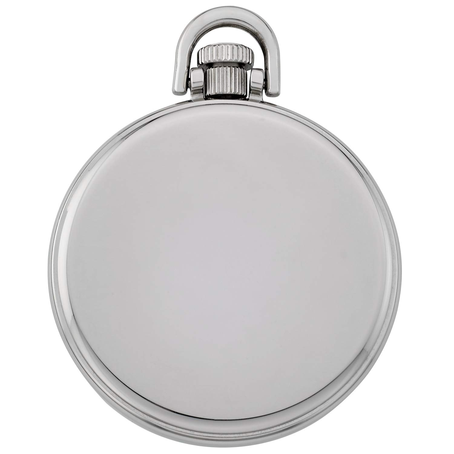 Gotham Men's Stainless Steel Mechanical Hand Wind Railroad Style Pocket Watch # GWC14108SB by Gotham (Image #4)
