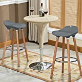 WOHOMO Kitchen Counter Height Bar Stools 32 Inches Grey Set of 2 Tall Barstools for Home Bar Kitchen Counter