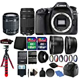 Canon EOS 80D 24.2MP D-SLR Camera with 18-55mm & 75-300mm Lens + 32GB Top Kit and Extra Battery