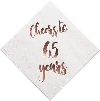 Amazon.com: Servilletas de cóctel de 45 a 65 años, paquete ...