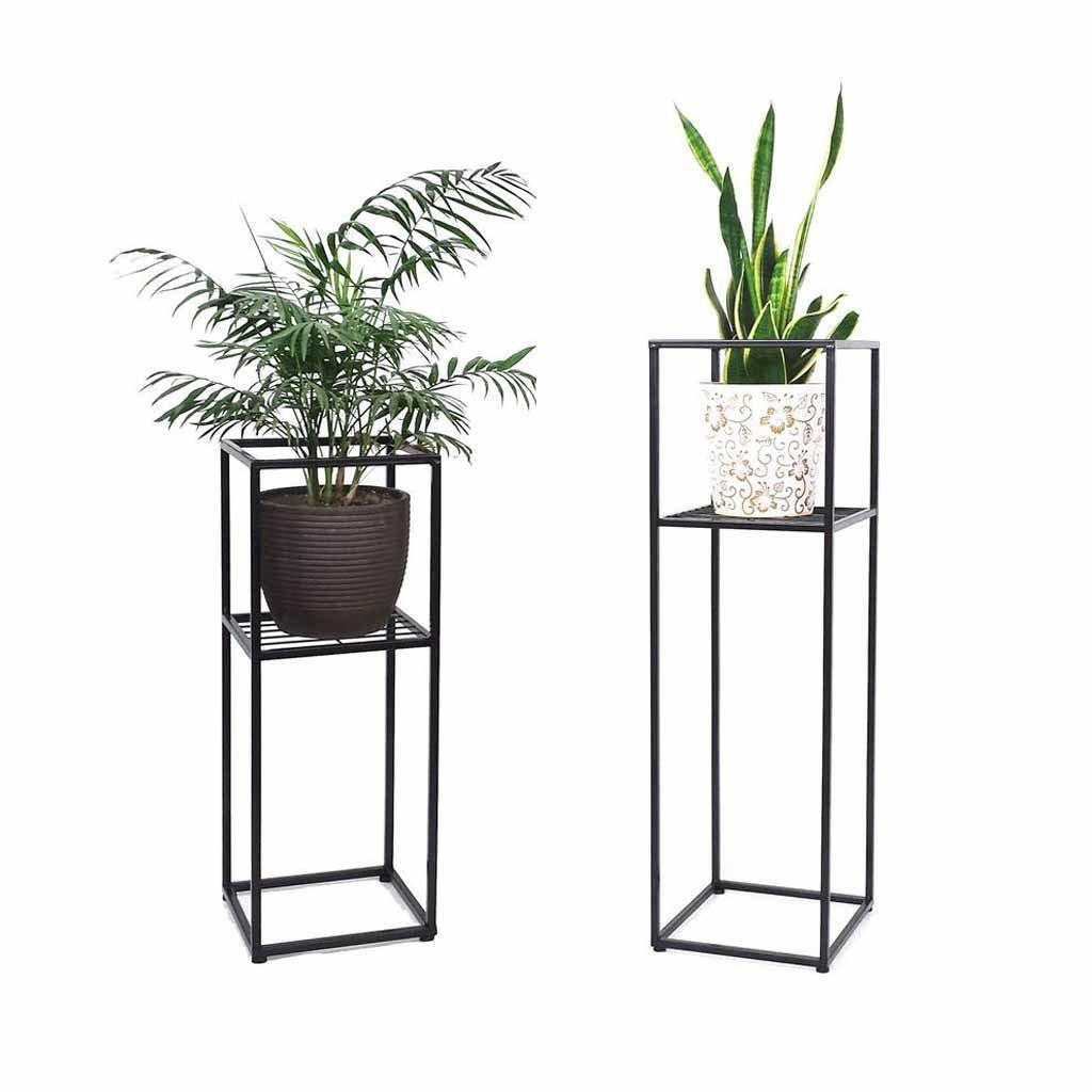 CL- Flower Rack - Indoor Outdoor Supporto da Pavimento in Metallo Supporto da Balcone in Ferro Creativity Garden Patio Standing Planter Decorazione Display Holder Stand di Fiori (Dimensioni   98CM)