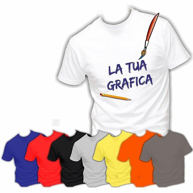 a2fe4d31e 10 T-Shirt Magliette Maglie Personalizzate in Serigrafia AD ALTISSIMA  qualità Ideali per Aziende Ditte Negozi Alberghi Staff Personale (A Scelta):  ...