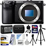 Sony NEX-7 NEX7 NEX7/B Compact 24.3 MP Mirrorless Interchangeable Lens Camera - (Body Only) with Best Value Accessories Bundle Kit includes includes 16GB Class 10 SDHC Memory Card + Replacement (1200mAh) NP-FW50 Battery + Professional 60 Inch Photo/Video Tripod + Hard Shell Carrying Case + High Speed USB Reader/Writer + HDMI Cable + Camera Lens Cleaning Kit + Bonus $50 Gift Card for Digital Prints