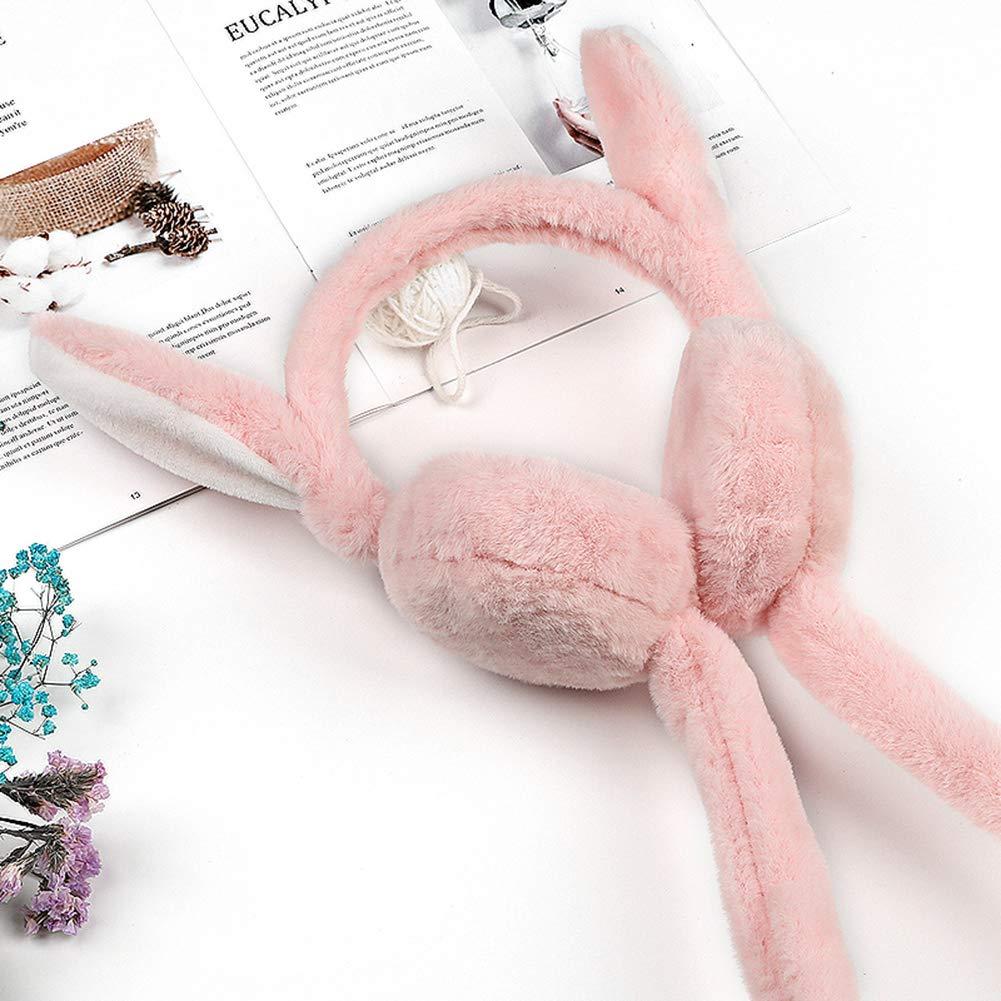 Amorar Orecchie di Coniglio Dolce da Donna Paraorecchie Caldi Accessori Invernali Moda Copri Orecchie Peluche Scaldini per Orecchie Grigio