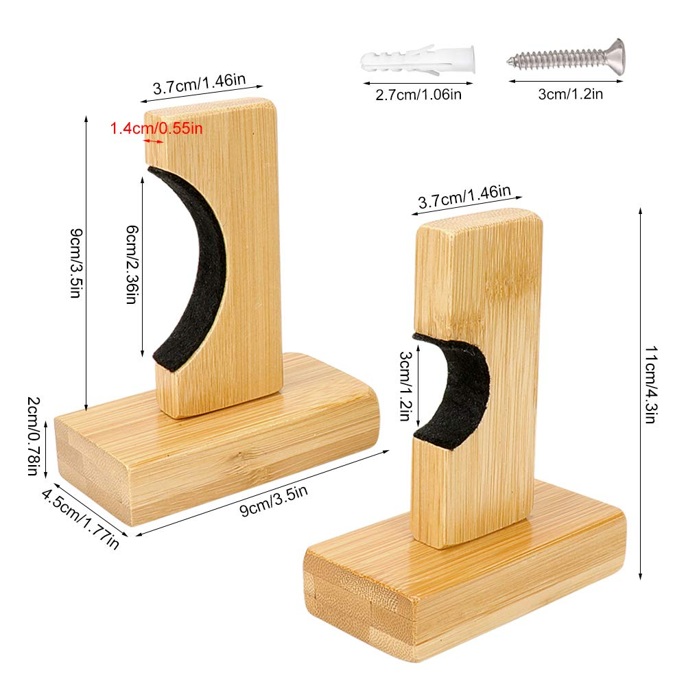 SelfTek para exhibici/ón Horizontal de bamb/ú Soporte de Pared para Bate de b/éisbol con 1 Bolsa de b/éisbol