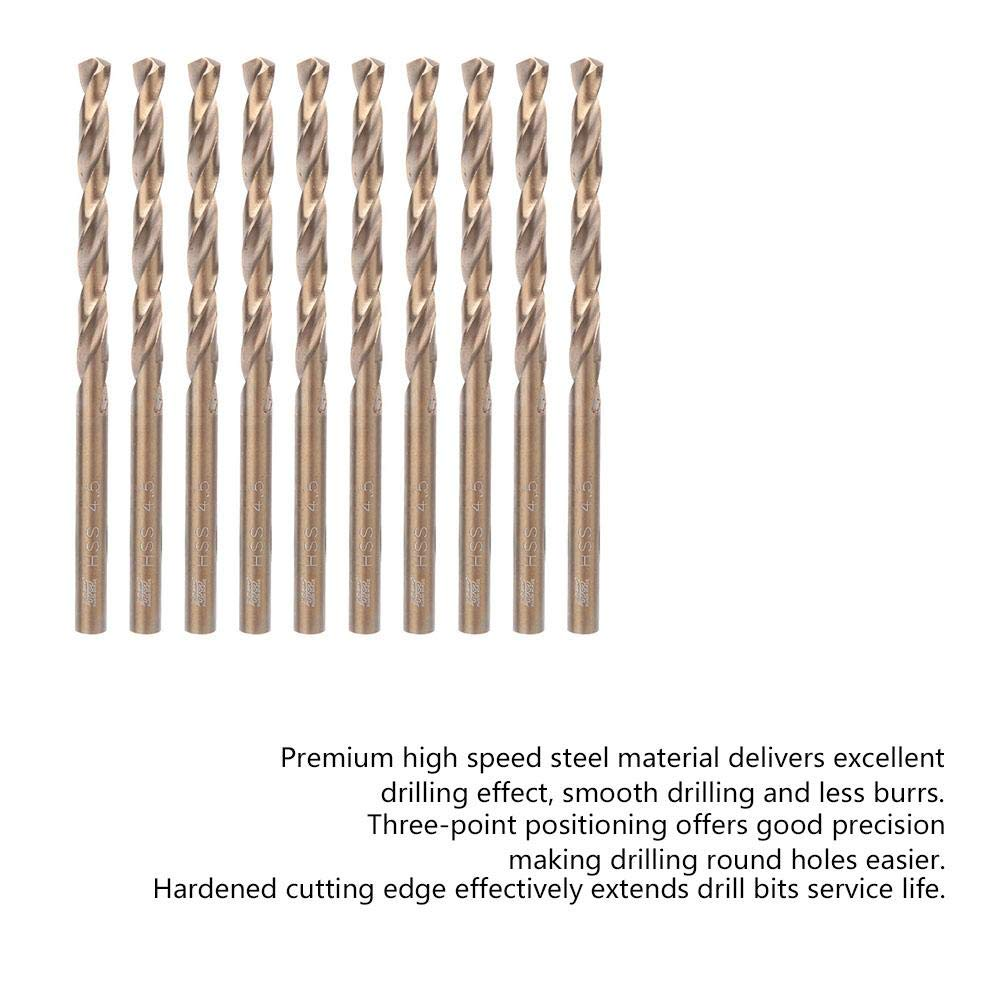 6.0//6.5//7.0//7.5mm 10pcs Straight Shank Twist Drill Bits HSS Stainless Steel Iron Plate Drilling Drill Bits HSS Twist Drill Bits 6.0mm