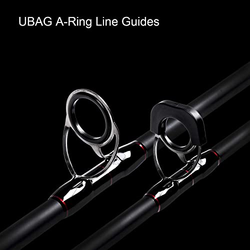 Fiblink Surf Spinning Fishing Rod 4-Piece Graphite Travel Fishing Rod 11-Feet 13-Feet 15-Feet