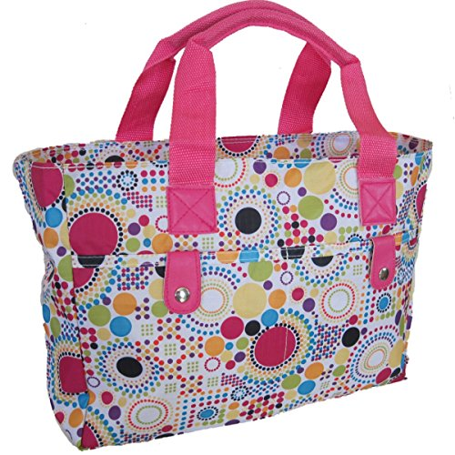 Very Bag wipe Bag Floral handbag Dots and Beach Pink strong cleanable Knitting Silver Multi Id0wxHqI