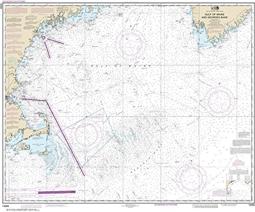 Noaa Chart 13009 Gulf Of Maine And Georges Bank  35 71  X 43 1  Paper Chart By Maphouse