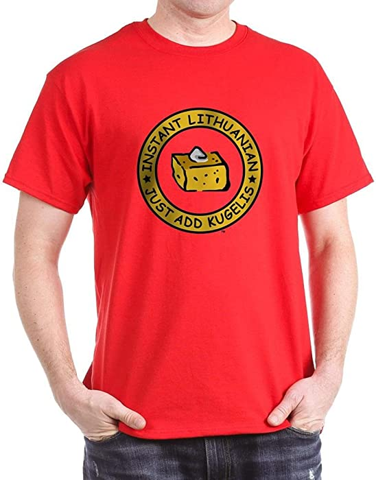 f41ddc59b4a Amazon.com  CafePress Just Add Kugelis 100% Cotton T-Shirt Red  Clothing